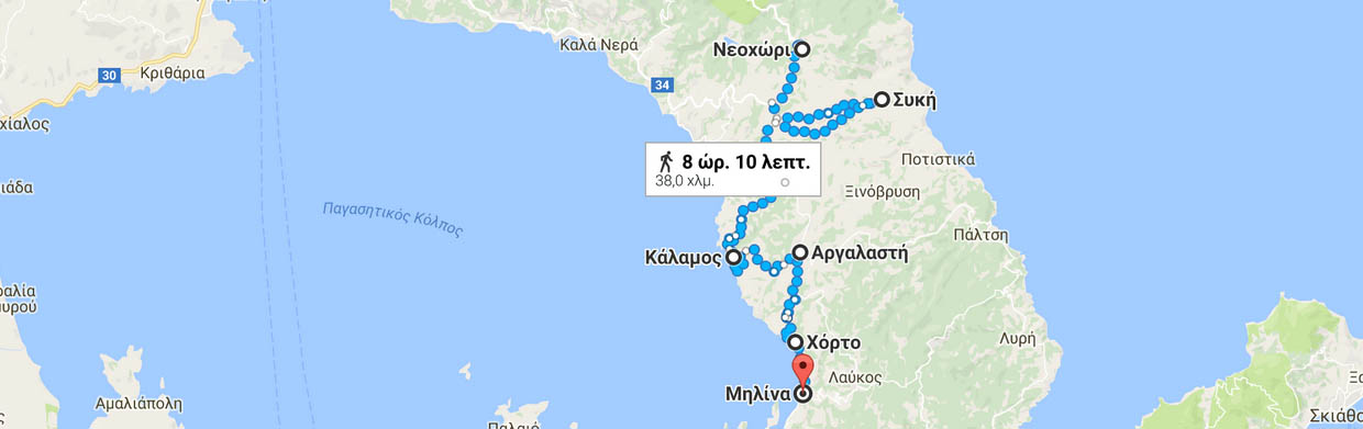 South Pelion cycle tour